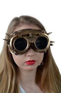 Steampunk-Maske-Brille-bronzefarben-Augenmaske-Maske-Steampunkmaske
