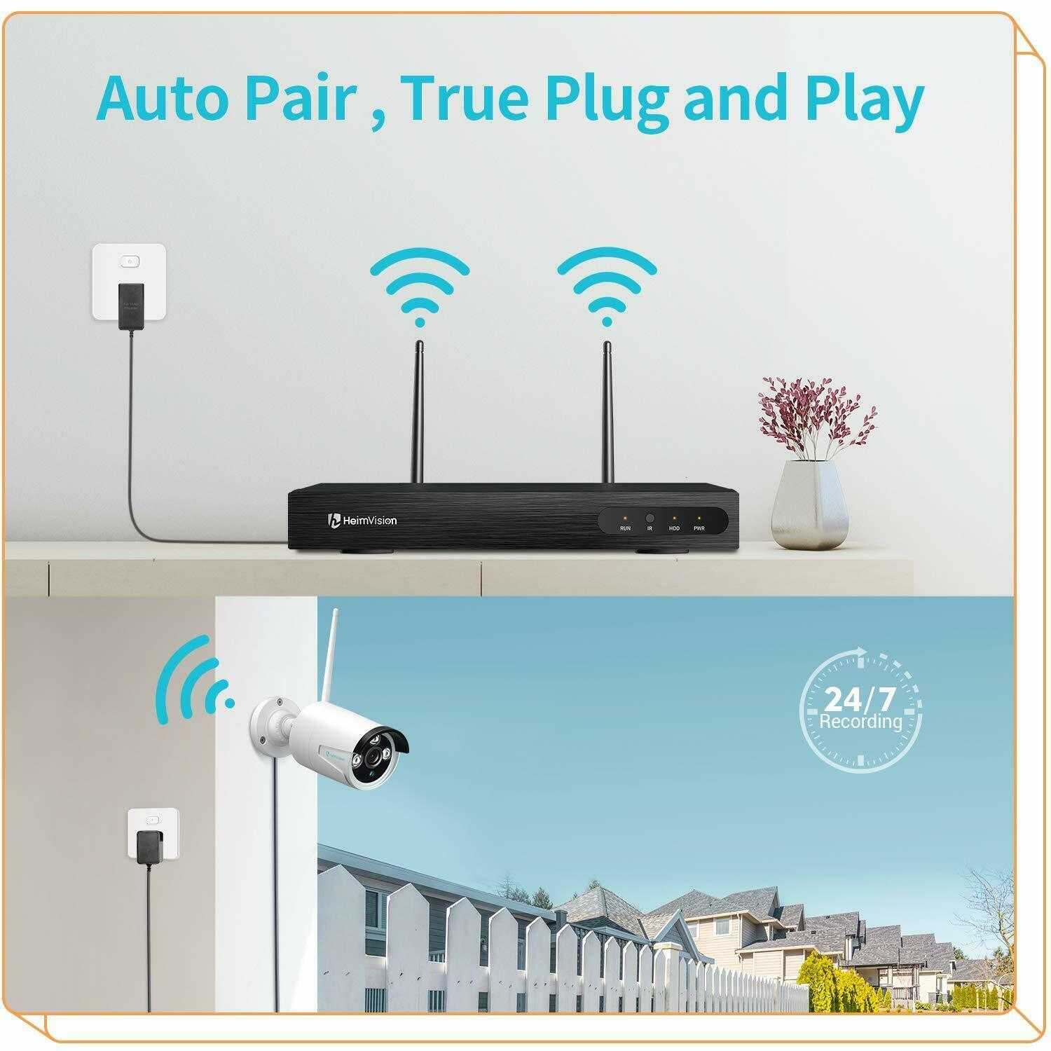 Outdoor IP Wireless System Security Kit