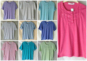 NEW-WOMENS-PLUS-SIZES-10-24-POLY-COTTON-JERSEY-EMBROIDERED-BUTTON-FRONT-T-SHIRT
