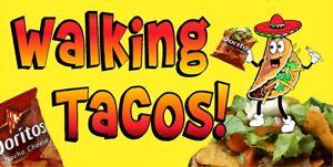 WALKING-TACOS-TACO-IN-A-BAG-VINYL-HORIZONTAL-BANNERS-CHOOSE-A-SIZE-DORITOS