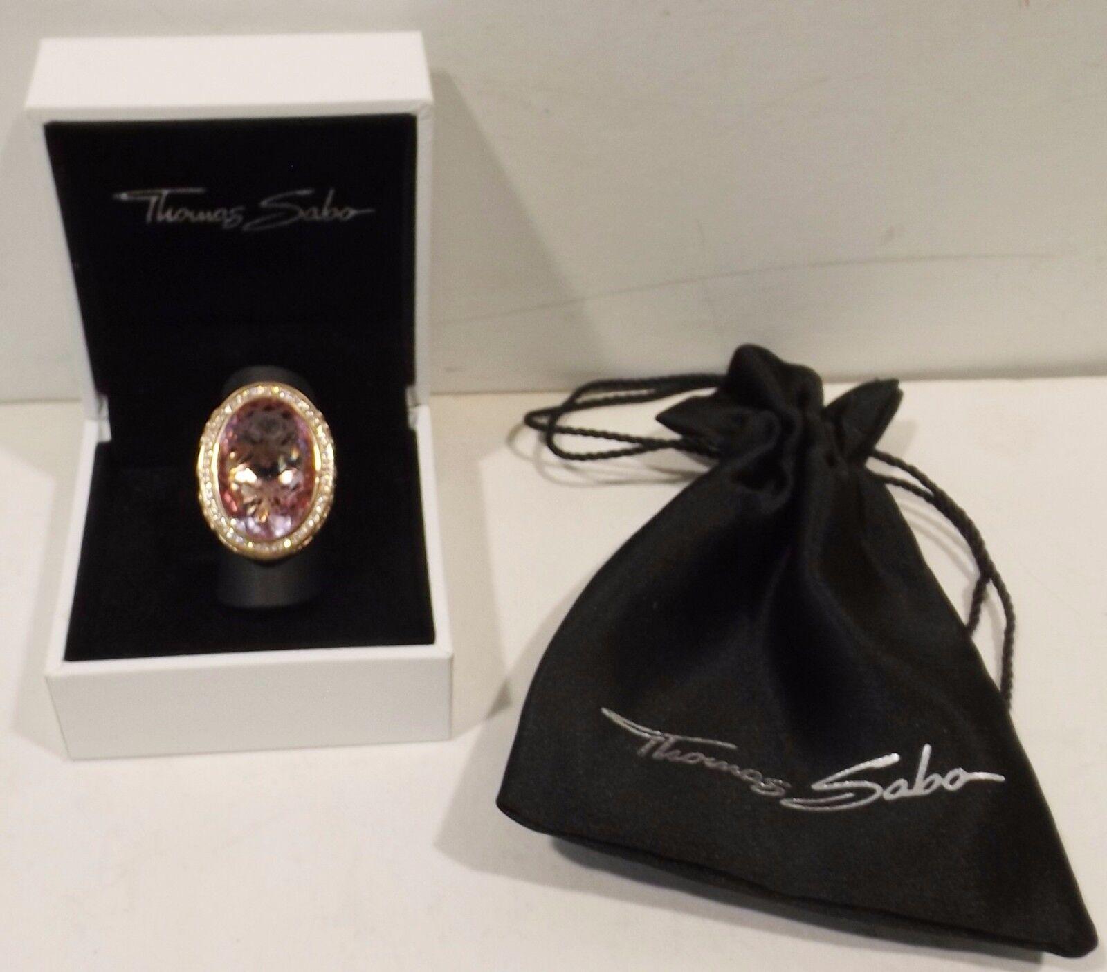 Thomas Sabo Anello 925 925 925 Sterling argentoo rosa Dorato-Zirconia Bianco rosaer CORINDONE 0efbce