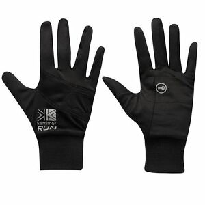 Lightweight-Breathable-Black-Running-Jogging-Gloves-with-Key-Stash-Pocket-S-M-L