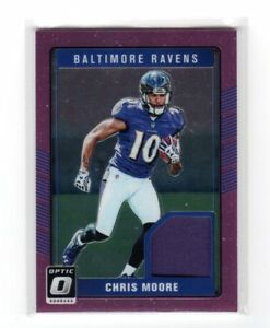 Details about 2016 Donruss Optic Rookie Threads Chris Moore Jersey Card