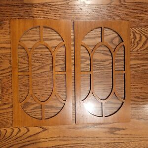 Sligh Ridgeway Pearl Grandfather Clock Access Wood/Glass Door Panels With Hinges