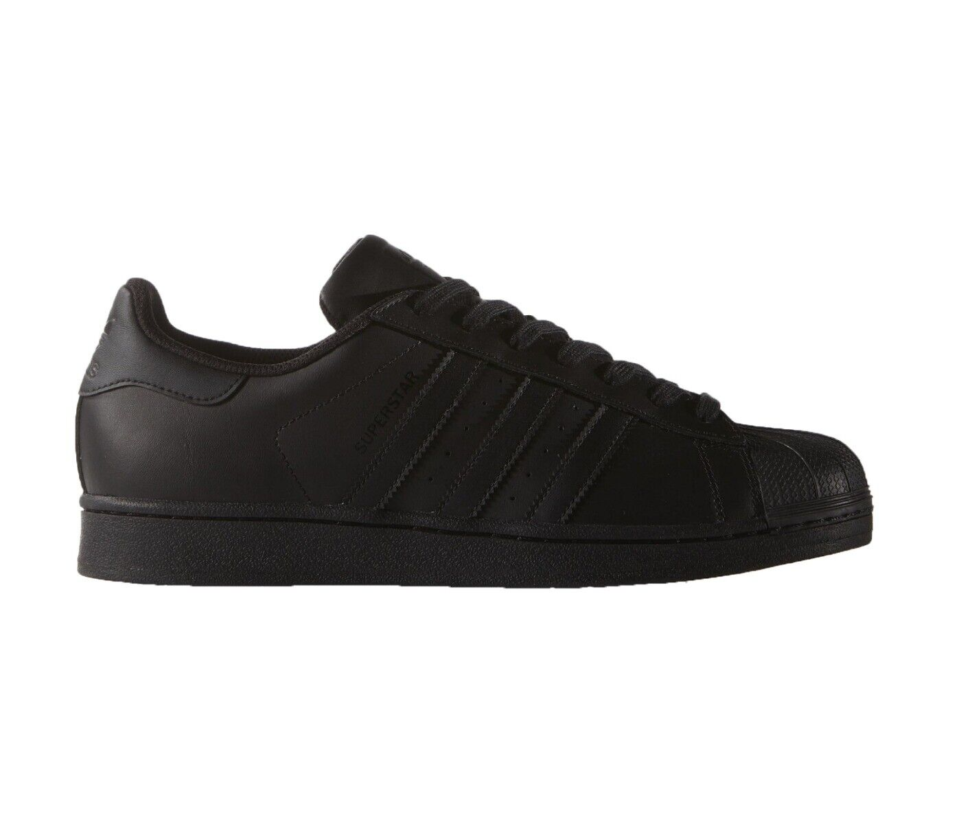 Adidas superstar negro men zapatos number 7-13 new