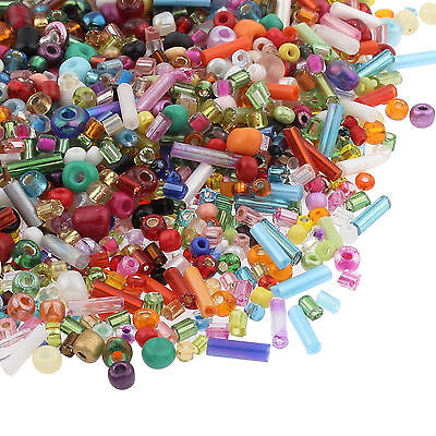 30g Mix Seed Beads Glass - Assorted Colours, Shapes & Sizes Jewellery Making