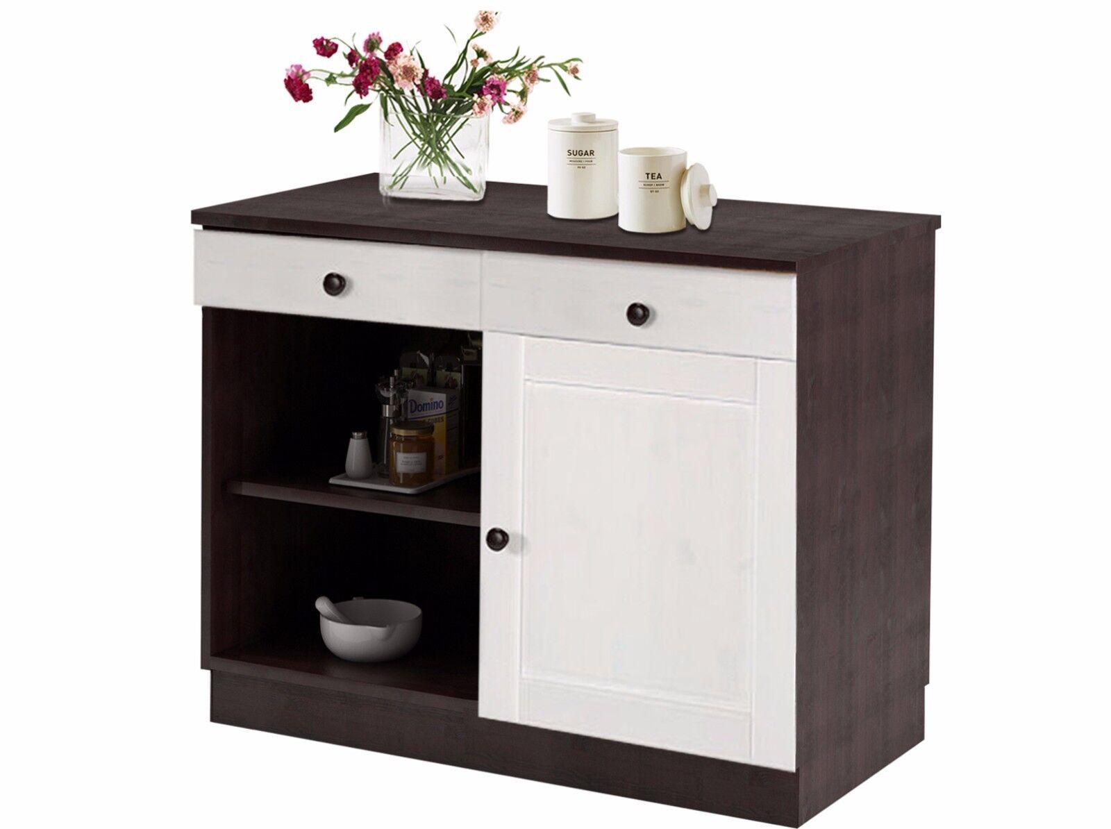 Küchenunterschrank Unterschrank Küchenschrank Küche Küche Küche Schrank  Kiefer Weiß Braun E98528