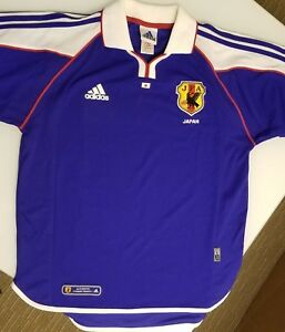 best sneakers fad85 4159c Details about ADIDAS Climalite Japan JFA World Cup Collared Authentic  Soccer Jersey Large