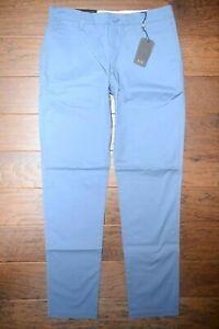 Armani Exchange P45 A X Para Hombre Slim Fit Pantalones Tipo Chino Pantalones De Algodon Azul Claro 33r Ebay