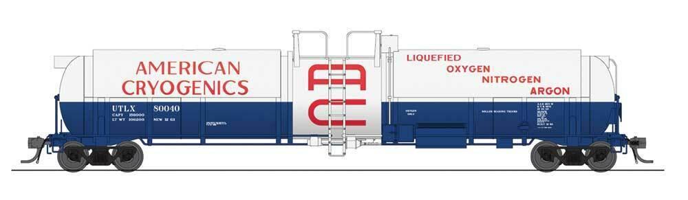 Broadway Limited (HO) 6160 de alta capacidad tanque criogénico coche  Americano-Listo para correr