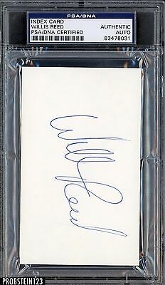 Willis Reed Signed Index Card AUTO PSA/DNA Certified Authentic Stock Photo