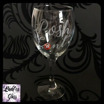*WARNING* Rude Naughty Funny Swear Word Offensive Adult Wine Glass Gift!