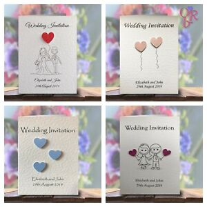 Wedding-Invitations-soiree-invite-Personnalise-amp-fait-main-avec-enveloppes