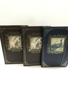 Lot-of-3-Punch-Studio-Classic-Journals-2-Horse-1-Peacock-As-Imaged