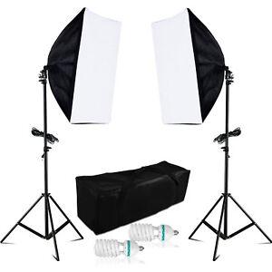 ECHT-1250W-Fotostudio-Softbox-Studioleuchte-Set-10cm-4420Lumen-5500K-Fotolampe