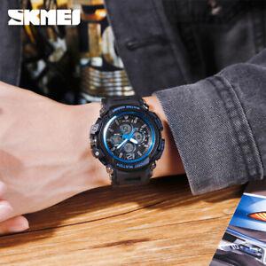 SKMEI 3 Time Multifunction Sport Men Quartz Digital Watch 50m Waterproof 1498 5