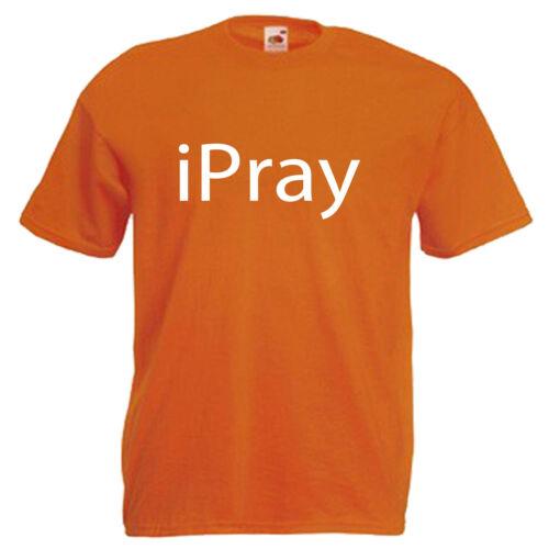 3XL Je prie église Homme T shirt 12 Couleurs Taille S