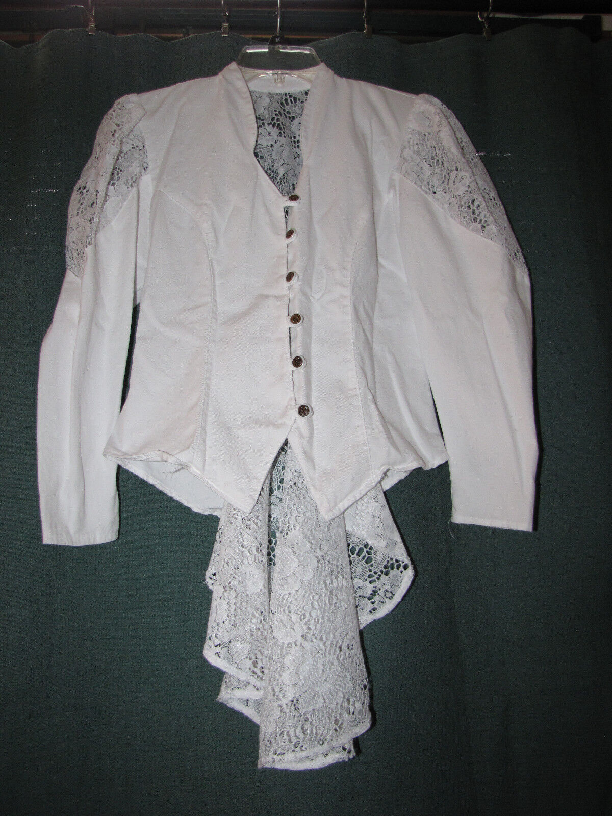 EUC True Vintage 1980's Lace Peplum Corset Jacket Romantic Funky Prince Style