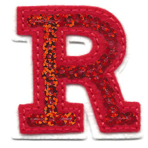 letter appliques iron on letters sequin 2 quot letter quot r quot iron on embroidered 8205