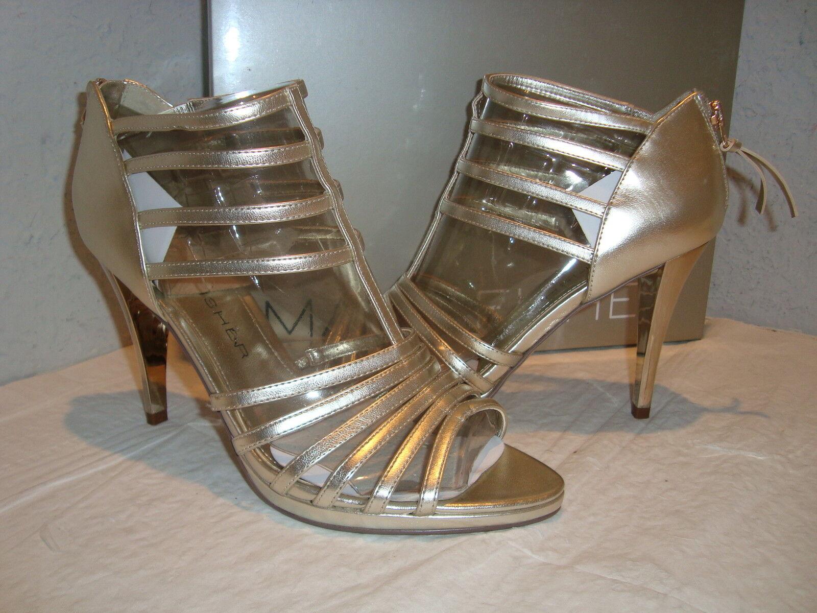 Nuevas mujeres de la sociedad Marc Fisher 2 2 2 oro Sandalias Zapatos 9 medio  Vuelta de 10 dias