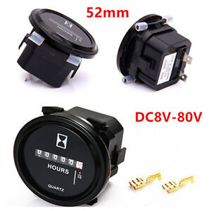 2-039-039-52mm-Round-Counter-Timer-Hourmeters-Car-ATV-Truck-Boat-Tractor-Gauge-Meters