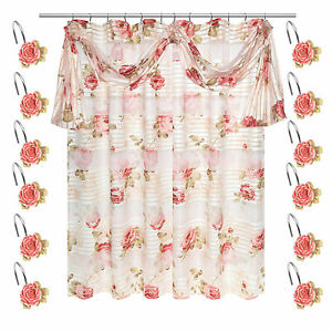 Image Is Loading Popular Bath Madeline Beige Collection Fabric Shower Curtain