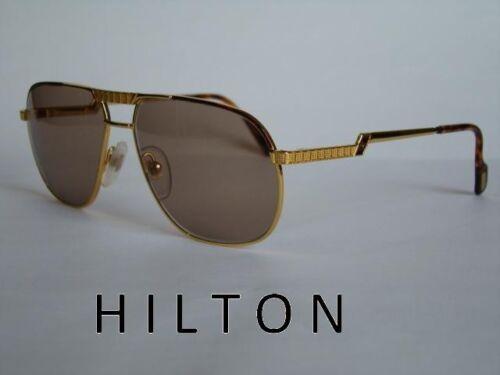 HILTON EXCLUSIVE 022 C2 24KT TORTOISE /& GOLD Sunglasses Avaitors Size 59