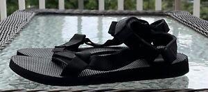 Teva Womens Original Universal Sport Sandals Black Adjustable Hook And Loop Sz 9