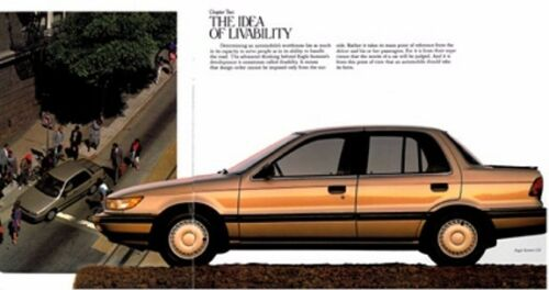 1989 Eagle Summit 22-page Original Car Sales Brochure Catalog  Mitsubishi Mirage