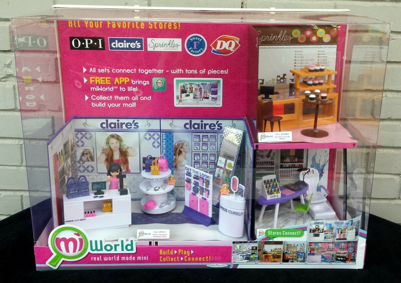 Store Display - Mi World Mini World Build Play Collect Connect Claire's OPI