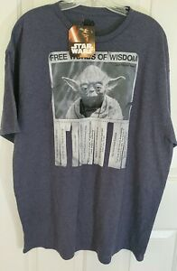 "Star Wars Yoda ""Free Words of Wisdom"" Men's T-Shirt Size ..."