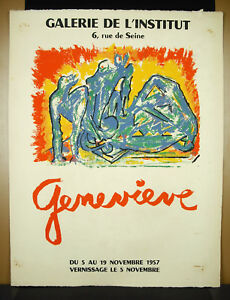 Poster-Display-1957-Genevieve-1913-2009-Gallery-L-039-Institut