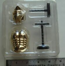 Mononofu IV: 1/10 scale Roman Gladiator Helmet & Armor (Gold) BOF002