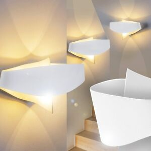 Design LED Wand Strahler Wohn Zimmer Wand Lampen Wandlampe Flur Leuchten weiss