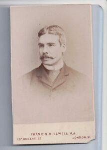 Vintage-CDV-Unknown-Victorian-Man-francis-R-Elwell-Photo-London-F3