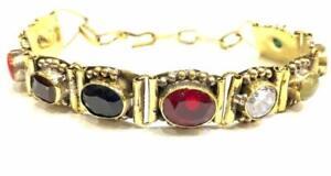 Navratan-Bracelet-Studded-Precious-Nine-Planet-Gemstones-Religious-BEST-QUALITY