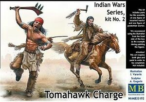 Masterbox-1-35-Indian-Wars-Series-No-2-034-Tomahawk-charge-034-Figures-Kit-MAS35192