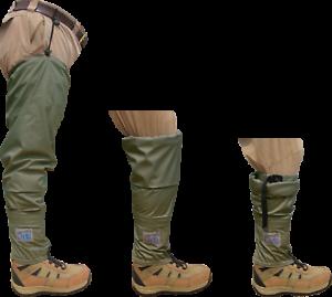 Chota-Tundra-Hippies-Convertible-Hip-Waders-w-Gravel-Guard-Green-Fly-Fishing