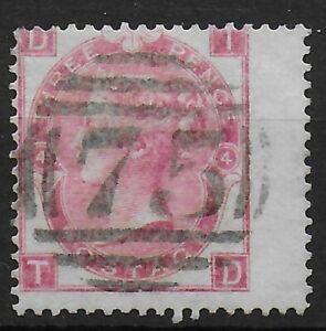 SG92-3d-Rose-Plate-4-Clean-Stamp-Both-Sides-Full-Perfs-Cat-210-Ref-0898