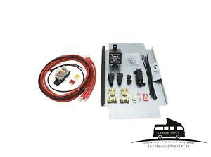 2-Batterie-Montagesatz-VW-T5-T6-Zweitbatterie-Nachruestsatz-Trennrelais-Camper