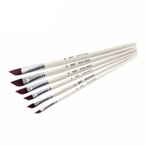Bianyo 6 pcs nylon Dagger Stripper paint brushes set for artist professional …