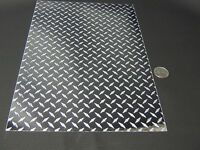 Longlife Mini Silver Diamond Plate Sign Vinyl 12 Inch X 10 Feet, Self-adhesive