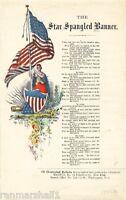 1814 Star Spangled Banner 2 Frances Scott Key Vintage Song Sheet Music Poster