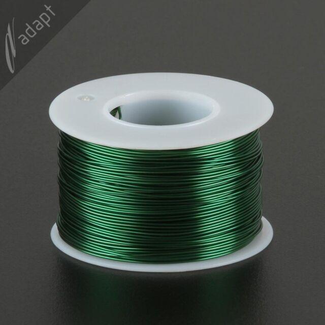 Magnet Wire, Enameled Copper, Green, 22 AWG (gauge), 155C, ~1/2 lb, 250 ft