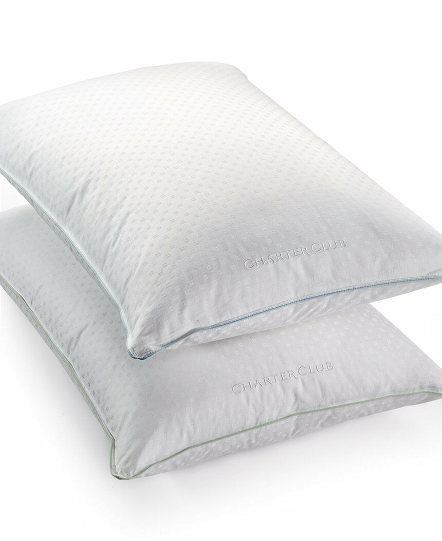 Charter Club Standard Pillow Medium Firm Support Feather Feather Feather Down Fill E93384 b3ca6d