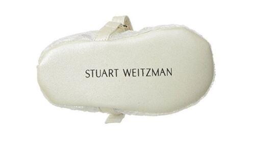 Stuart Weitzman Girls/' KIds Baby Fannie Dancer-t Mary Jane White 4 M US Toddler