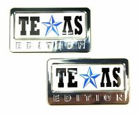 2x Chrome Texas Edition 3d Accessory Emblem For Car Suv Rv Truck - Universal