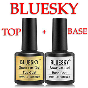 SET-Bluesky-Top-Coat-and-Base-Coat-10ml-bottle-UV-Gel-Polish-ORIGINAL