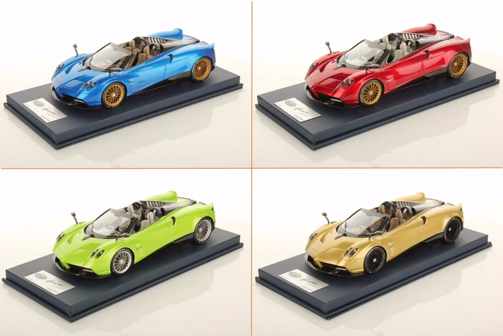 Pagani Huayra Roadster Red Metallic, bluee, gold, Green - w  Case LookSmart 1 18