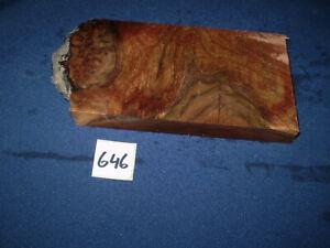 Nussbaum Maser Schmuckholz für Holzschmuck Edelholz  175 x 95 x 18 mm   Nr. 646